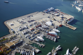 Die Alte Mole im Hafen von Palma, aus der Möwen-Perspektive.
