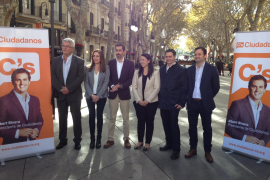 Die neue konservative Partei in Spanien, Ciudadanos (Deutsch: Bürger), bei einem Wahlkampftermin auf dem Borne in Palma.