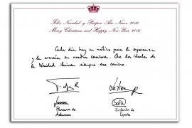 Die Königsfamilie wünscht handschriftlich frohe Weihnachten
