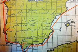 """Die Landkarte aus dem Buch zeigt den genauen Verlauf der """"Spanien-Fahrt 1929""""."""
