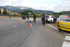 Nach dem Unfall an der alten Landstraße nach Bunyola.
