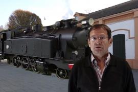 Das Foto einer angeblich neu aufgetauchten historischen Lokomotive ist leicht als Montage zu erkennen.