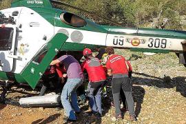 Hubschrauber rettet Tramuntana-Kletterin