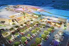Ein Einkaufszentrum und viele neue Hotels