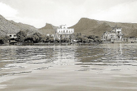 """Im Hotel """"Illa d'Or"""" im noch unverbauten Hafen von Pollença logierte möglicherweise Agatha Christie während ihres Mallorca-Aufen"""
