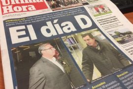 Die Titelseite der spanischen MM-Schwesterzeitung Ultima Hora an Montag.