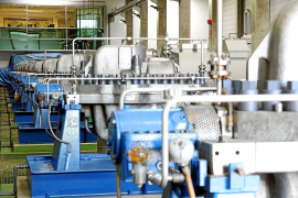 Die Entsalzungsanlage weist insgesamt neun Produktionslinien auf.