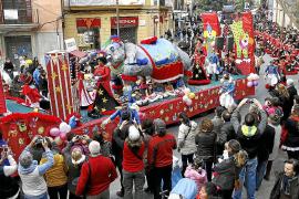Der Umzug in Palma ist das Highlight des mallorquinischen Karnevals. Hier ein Foto aus dem vergangenen Jahr.
