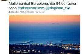 Mallorca von Barcelona mit bloßem Auge zu sehen