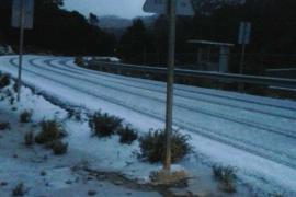 In den Höhenlagen des Tramuntana-Gebirges fiel am Montagmorgen Schnee.