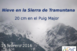 20 Zentimeter weiße Pracht fielen am Puig Major.
