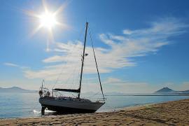 Segelboot auf Mallorca gestrandet