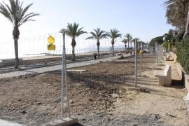 Die erste Meereslinie in Port de Pollença ist eine Baustelle