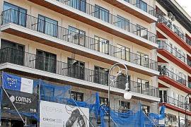Das Hotel Nacar in der Avinguda Jaume III dürfte bald fertiggestellt sein.