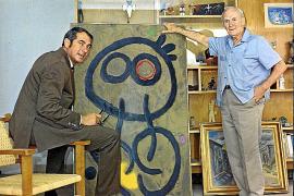 Dieses Selbstauslöser-Bild zeigt den Fotografen auf dem Höhepunkt seines Ruhms mit Joan Miró.