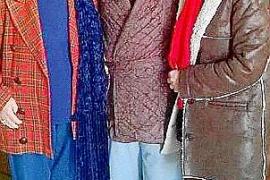 Timoner mit Frau und Tochter in Felanitx. Dort ist der 90-Jährige zu Hause.