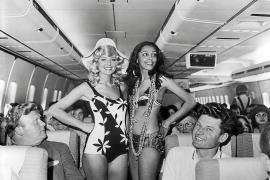 Da kam Urlaubsfeeling auf: In den 1970er Jahren veranstaltete Condor an Bord der Maschinen Modeschauen mit Strandbekleidung.