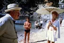 """""""Das Böse unter der Sonne"""" mit Peter Ustinov (F.) entstand unter der Ägide von Guy Hamilton zum Teil auf der Halbinsel Formentor"""