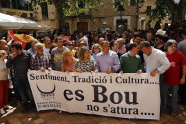 Demonstration für den Stierlauf