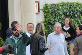 Der französische Schauspieler Jean Reno während seiner Dreharbeiten für einen Bier-Werbespot