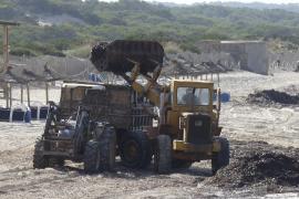 Bagger beseitigen die Algenreste am Es-Trenc-Strand (Archivfoto).