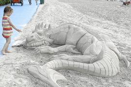Sandskulpturen nur nach Genehmigung