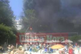 Stadtbus am Strand von Illetes ausgebrannt