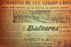 """""""Angekommen in Rom"""" titelten die Zeitungen im September 1950."""