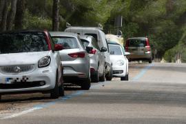 Meistens sind die Parkplätze alle belegt.
