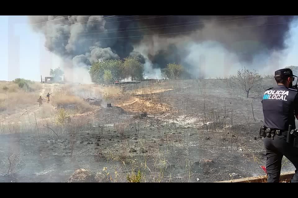 Brand beim Stadion von Real Mallorca