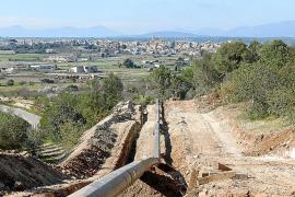 Bauarbeiten bei Felanitx im vergangenen Winter.