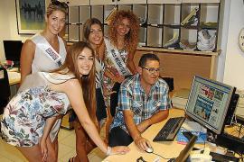 Die Schönheiten interessierten sich für die Abläufe in einer Redaktion. Im Anschluss wurde die Miss Ultima Hora gekürt.