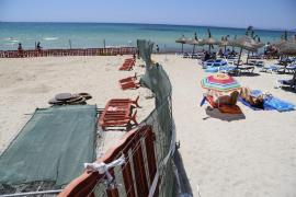 Der Strandabschnitt wurde für Besucher gesperrt
