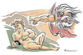 In seinen Cartoons befasst sich George Riemann mit den verschiedensten Alltagsthemen.