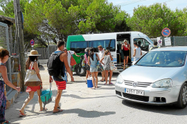 Shuttlebusse nach Es Trenc entspannen Parksituation