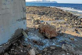 Abwasser an der Küste von Can Picafort