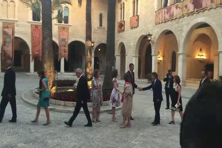 Königsbesuch auf Mallorca geht mit Empfang zu Ende