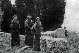 Historische Aufnahme mallorquinischer Eremiten.