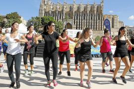 Sport im Schatten von Palmas Kathedrale