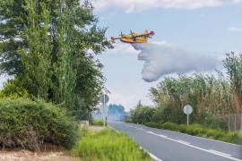 Löschflugzeug im Einsatz.