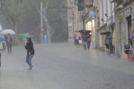 Am Wochenende regnet es auf Mallorca
