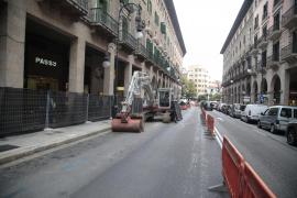 Bauarbeiten an Palmas Shoppingmeile
