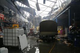 Großbrand in Palma zerstört Industriehallen