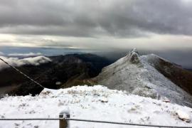 Am Puig Major ist der erste Schnee gefallen