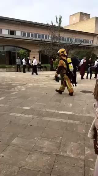Wie in echt: Feueralarm an Tourismus-Hochschule