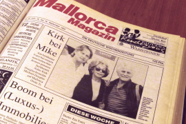 Das Mallorca Magazin machte den Douglas-Besuch 1994 zum Aufmacher auf der Titelseite.