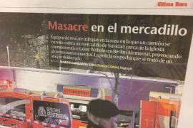 """Die spanische MM-Schwesterzeitung Ultima Hora auf Mallorca bezeichnet die Ereignisse in Berlin als """"Massaker""""."""