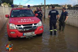 Feuerwehr noch immer wegen Unwetters im Einsatz