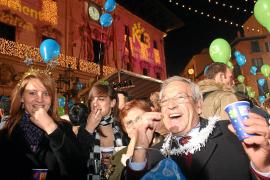 Die größte Silvesterparty der Insel steigt normalerweise auf dem Rathausplatz in Palma, in diesem Jahr findet sie auf dem Borne
