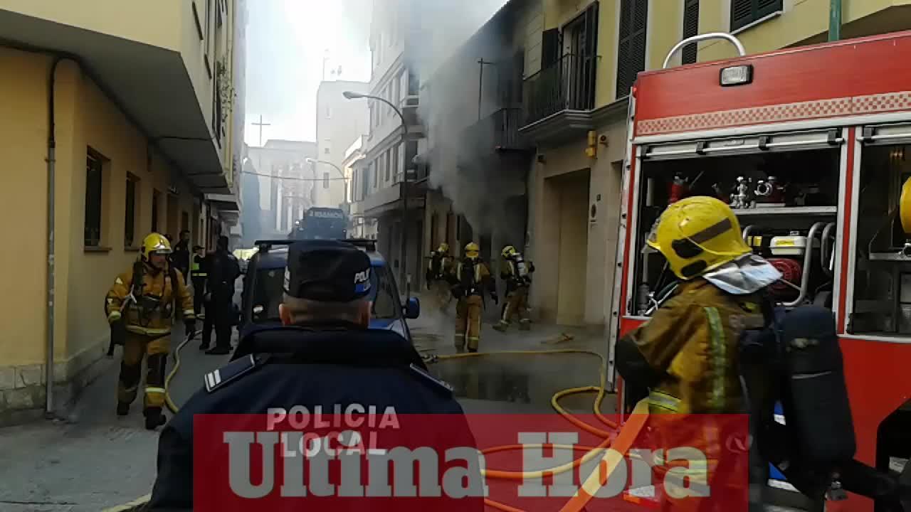 Brand in Palmas Zentrum sorgt für Aufsehen